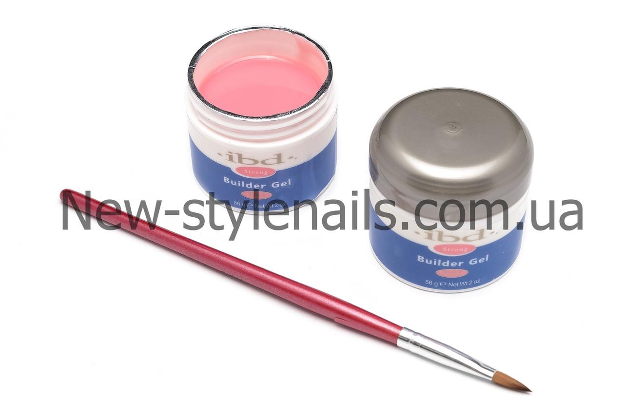 Гель для наращивания ногтей, IBD натурально-розовый камуфляж