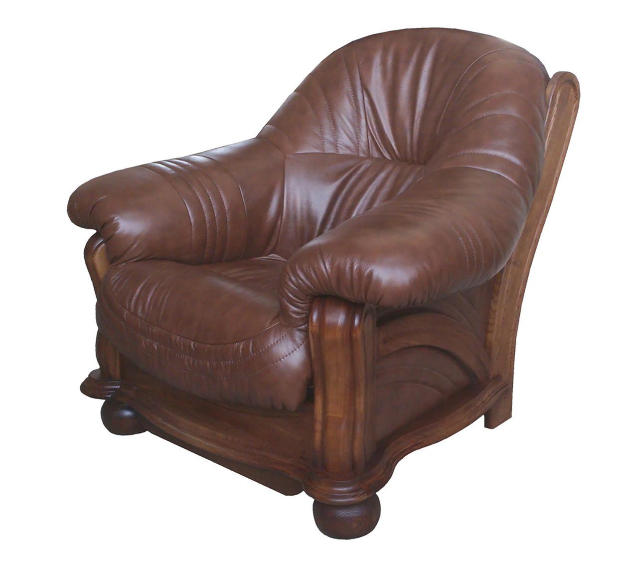 """Классическое кожаное кресло """"diaz"""" (Диаз). (108 см)"""