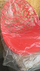 Стул Миа красный пластиковый резной на металлических ножках для дома, HoReCa, фото 2