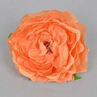 Головка Камелии 10 см оранжевая