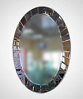 """Зеркало """"Овальная гравировка"""" настенное с креплением"""