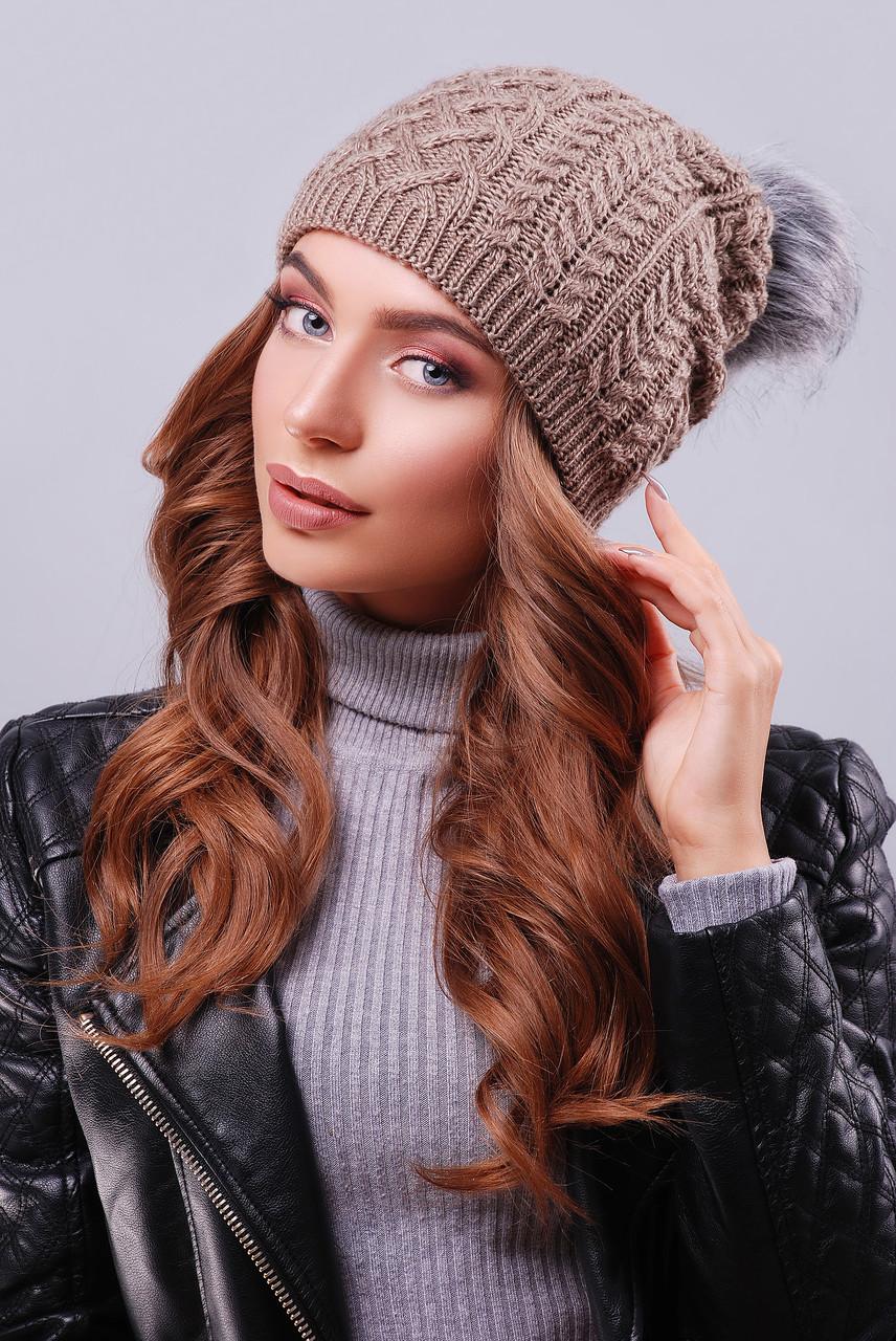 Современная женская шапка