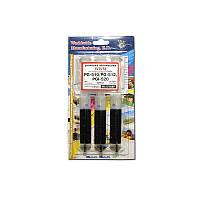 Заправочный набор WWM для CANON PG-510/PG-512 Black Pigmented (3x20mll) IR3.C10/BP