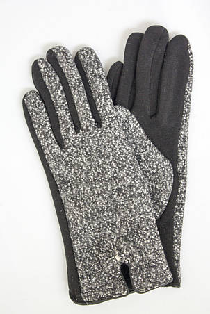 Женские стрейчевые перчатки Комбинированые Большие, фото 2