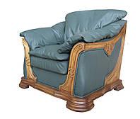 """Мягкое кожаное кресло """"Ferenza"""" (Ференза). (110 см)"""