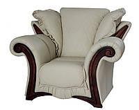 """Стильное кожаное кресло """"Mayfaer"""" (Майфаер). (128 см)"""