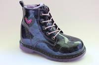 Детские демисезонные ботиночки для девочек 27,28,30,31р фиолет.