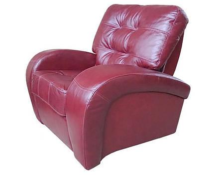 М'яке шкіряне крісло Вінс., фото 2