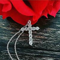 Крестик и цепочка в стиле Tiffany 925 проба