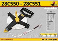 Лента измерительная L-50м., W-13мм., стекловолокно, TOPEX  28C550