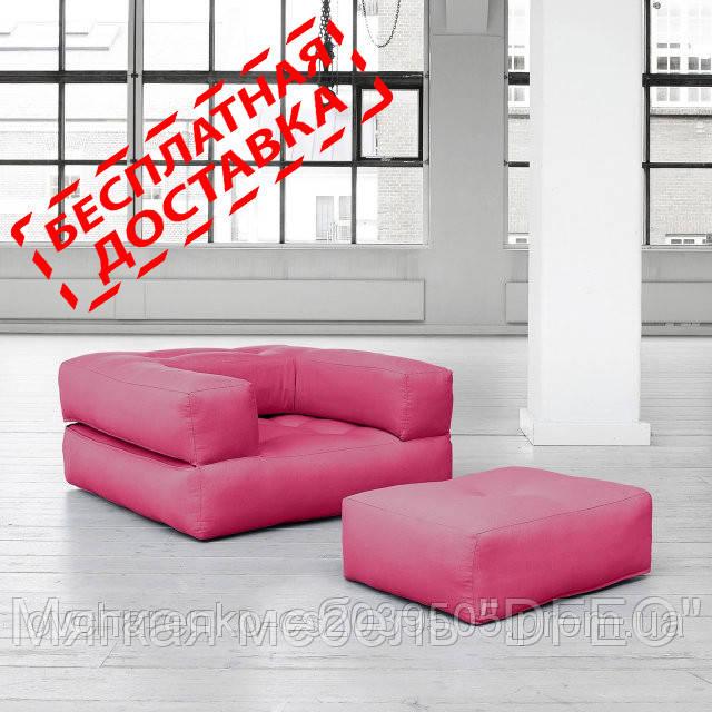 """Кресло кровать """"kub"""" черное, раскладное кресло,кресло диван, кресло для дома, бескаркасное кресло. - Мягкая мебель """"DFEO"""" в Павлограде"""