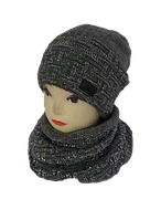 Комплект женский шапка и шарф хомут