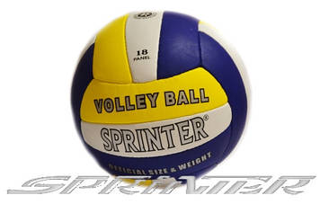 Мяч волейбольный Sprinter 434-458.Сине-желтый.