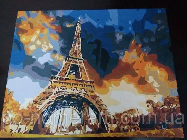 Картина по номерам Mariposa Закат над Парижем MR-Q1224