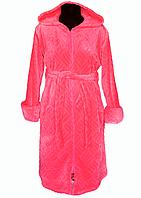 Большой халатженский махровый халат поясна запах/на молнии теплый домашний зимний велсофт больших размеров