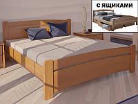 """Кровать  из натурального дерева """"Сидней с ящиками"""" ТМ ХМФ"""