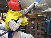 Защтная экипировка пескоструйщика. Шлемы, костюмы, перчатки, фильтры