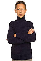 Вязаный свитер Рикки темно-синий