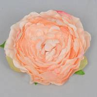 Головка Камелии 10 см персиковая