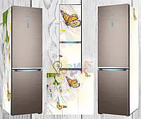 Дизайнерские наклейки на холодильник Бабочки