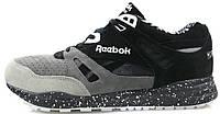 Мужские кроссовки Reebok Ventilator Рибок Вентилятор черные с серым