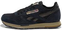 Мужские кроссовки Reebok Classic Suede Рибок Классик черные
