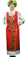 Украинский костюм с аппликацией и вышивкой