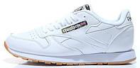 Мужские кроссовки Reebok Classic Leather White Рибок Классик белые