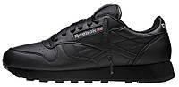 Мужские кроссовки Reebok Classic Leather Рибок черные
