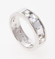 """Кольцо """"Нелио"""" с кристаллами Swarovski, покрытое родием (r846f000)"""