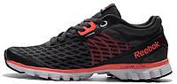 Мужские кроссовки Reebok Sublite Black/Red Рибок черные с красным