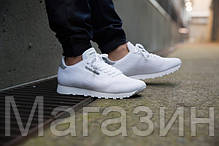 Мужские кроссовки Reebok Runner Tech Mesh Flat White Рибок белые, фото 3