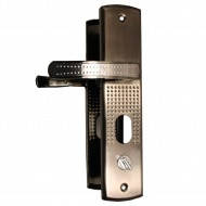 Ручка на бронированные двери с подсветкой правая (стальная)