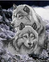 """Схема для вышивки бисером """"Волки на снегу"""". Арт. СКВ-2(2)"""