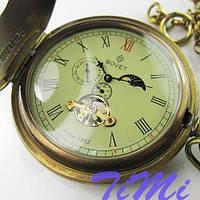 Механические карманные часы мужские бронзовые Bovet на цепочке