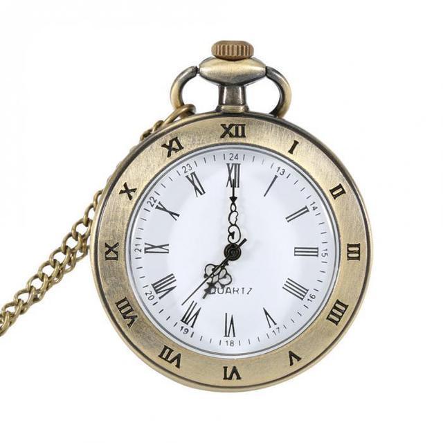 Кварцевые часы на цепочке карманные подарочные