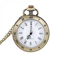 Кварцевые часы на цепочке карманные подарочные, фото 1