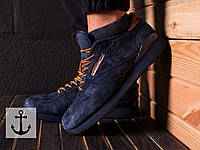Мужские кроссовки Reebok Classic  Синие Реплика ААА+