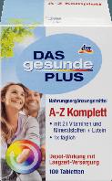 Комплекс витаминов и минералов Das gesunde Plus A-Z Komplett Tabletten, 100 St Nahrungsergänzungsmittel