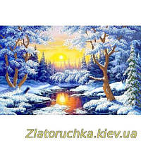"Схема на ткани для вышивания бисером ""Зимний лес"", арт. РКП-178"