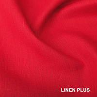 Алая льняная ткань 100% лен, цвет 1180
