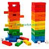 Дженга деревянная цветная с кубиками