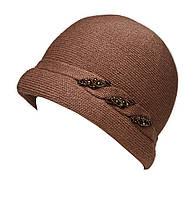 "Шляпа ""Монро"" цвет светло коричневый"