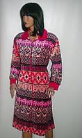 Женский велюровый халат на молнии,Турция