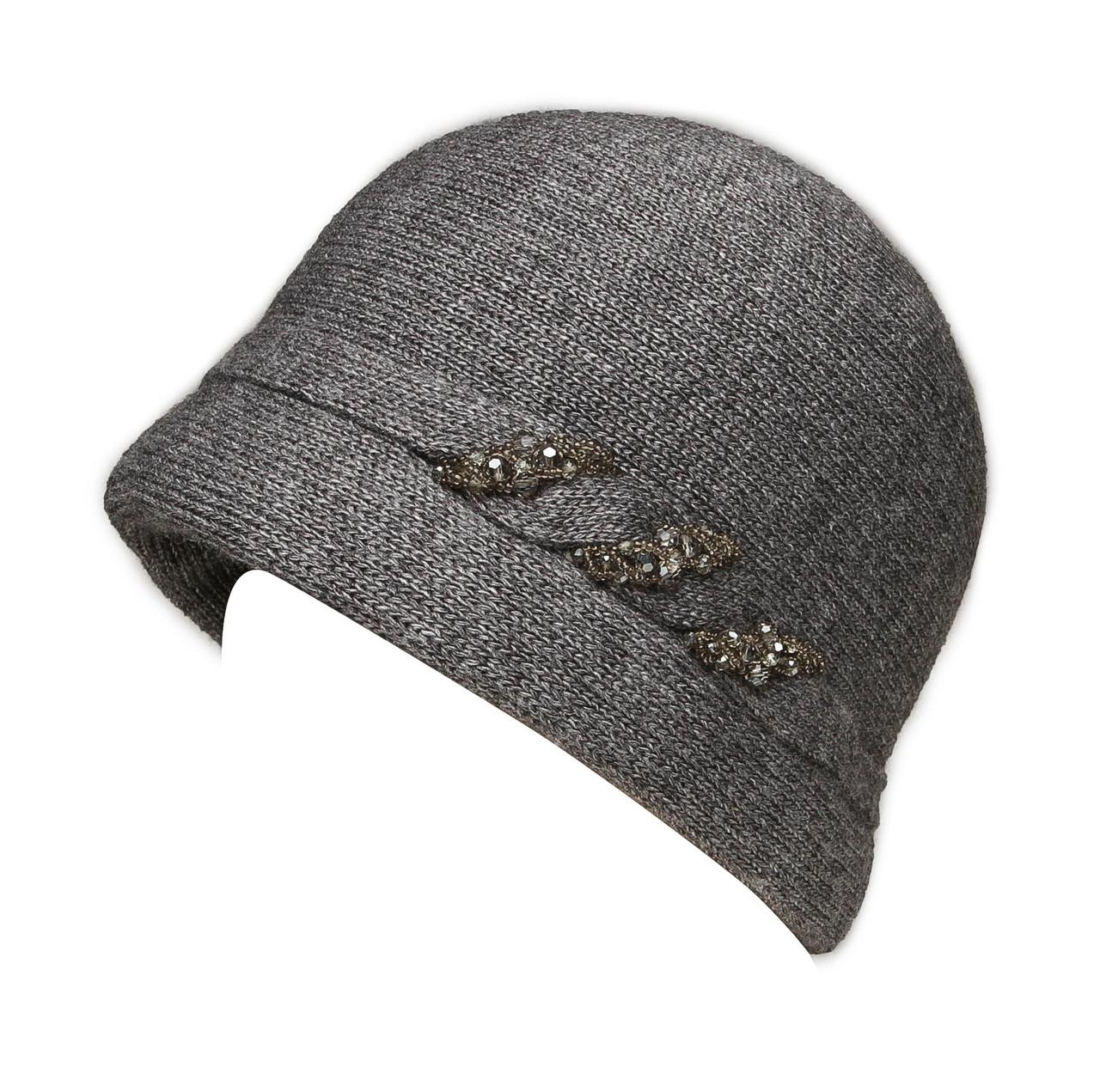 "Шляпа ""Монро"" цвет серый"