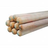 Черенок для лопат 1,2м, д-40мм, 1СОРТ (Граб) белый (кратно 12 шт.)