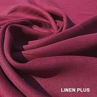 Малиновая льняная ткань 100% лен, цвет 1207