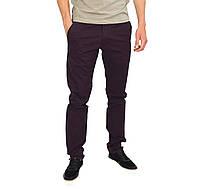 Однотонные мужские джинсы зауженные FORKY цвета баклажан, фото 1