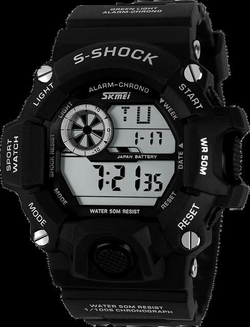 Спортивные водостойкие часы Skmei 1019 черный