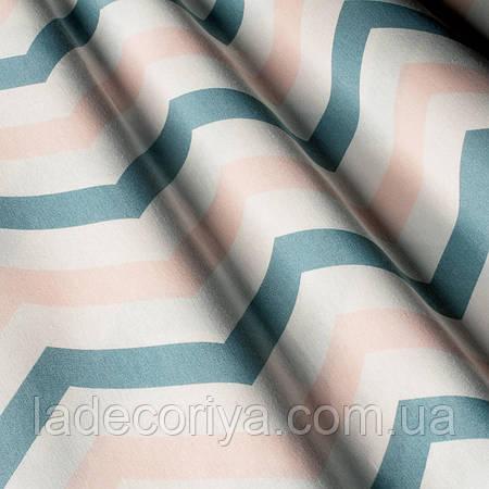 Ткань для декора, зиг-заг